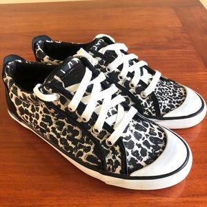 COACH Barrett Leopard Print Sneakers Size 8.5B